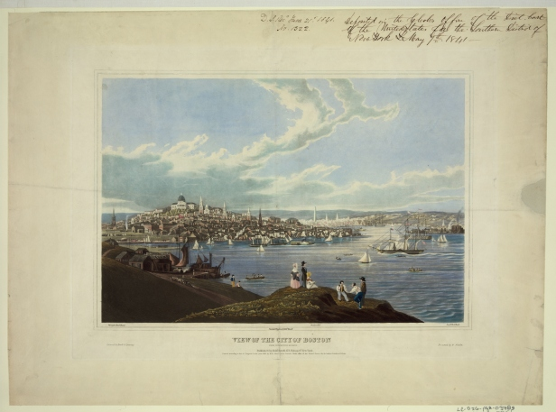 Boston from Dorchester Heights 1841