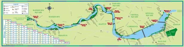 Watertown Cambridge Boston Charles River map