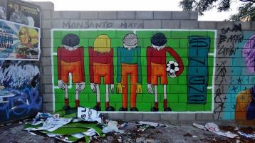 Buenos Aires soccer graffiti